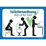 immi 4 Stck. Toilettenordnung, Sitzen pinkeln, Klobürste nutzen, Hände Waschen
