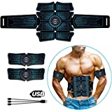 ELEAD Smart Abdominal Muscle EMS Abs Stimulator Muscle Trainer Portable Wireless Portable Unisex Fitness Training Gear for Ab