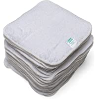Cheeky Wipes - 25 White Cotton Washable Reusable Cloth Baby Wipes
