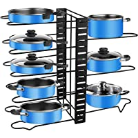 Porte-casseroles, 3 DIY Méthodes Porte-casseroles Support en Acier Inoxydable Rangement Cuisine avec 8 Compartiments…
