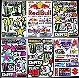 6 bogen Aufkleber kiki selbstklebend Stickers rockstar energy drink BMX moto-cross decals Abziehbilder MX