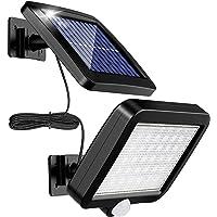 Solarlampen für Außen, MPJ 56 LED Solarleuchte Aussen mit Bewegungsmelder, IP65 Wasserdichte, 120°Beleuchtungswinkel…