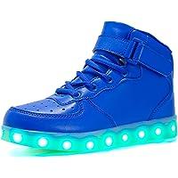 Voovix Baskets Montants Enfant LED Lumières Multicolores avec Télécommande-Chaussures USB Rechargeable pour Garçons et…