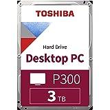 "TOSHIBA P300 - Disco duro interno de 3 TB, 3,5"" (pulgadas), SATA (HDD), 7200 RPM, 6 GB/s, para juegos, ordenadores, equipos d"
