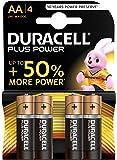 Duracell Plus Power Piles Alcalines type AA, Lot de 4 piles