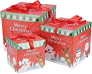 Toyvian 3PCS Christmas Candy Box Paper Safe Candy Small Cookie Gift Treat Boxes Holder Party Favor