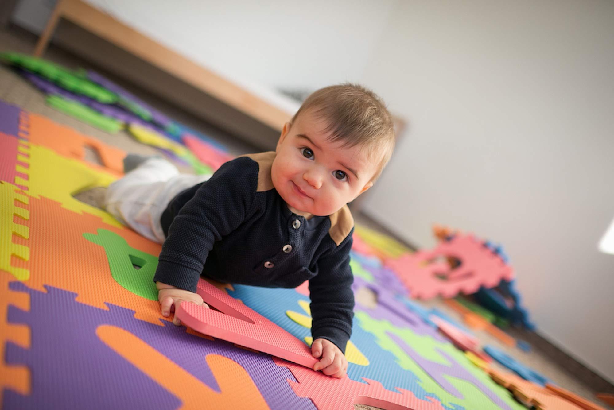 Tappeto Morbido Per Gattonare : Tibelara grande tappeto puzzle bambini extra morbido numeri e