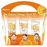 Himalaya Tan Removal Orange Facial Kit (Tan Removal Orange Peel-Off Mask, Face Scrub, Face Wash), 150 ml (Pack of 3)