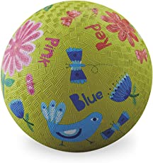 "Playground Ball - 5"" Rubber Sports Ball - Indoor / Outdoor - PVC, BPA, and Vinyl-Free ( Garden )"