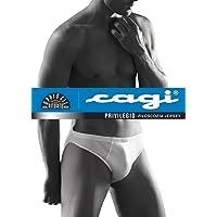 CAGI 6 Mini Slip Mutanda Uomo Art 1208 100% Filo di Scozia Bianco 4 5 6 7