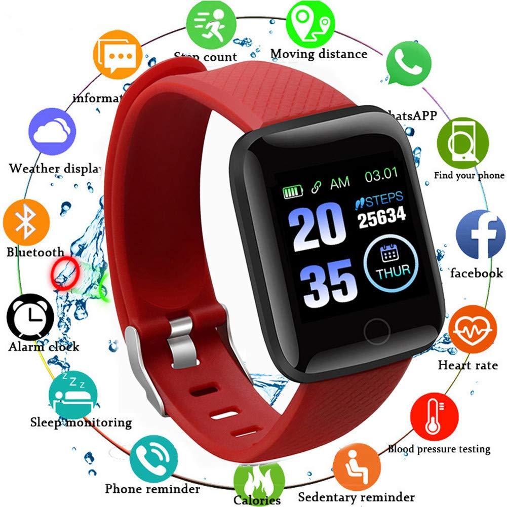 Smart Fitness Tracker Watch, IP67 Impermeable Reloj Inteligente con Contador de Pasos Monitor de sueño, podómetro Reloj… 1