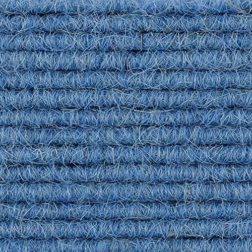 Teppichboden Teppich-Fliese | Tretford Interland ECO | 50x50 cm | blau 517