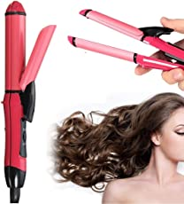 Buyerzone 2 in 1 hair straightener and curler with Ceramic Plate