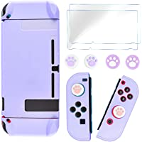 DLseego Protective Case Cover Compatible with Switch, Hard Skin Anti-Scratch Shockproof Full Set Protection with 2 Glass…