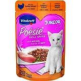 فيتاكرافت طعام رطب لذيذ للقطط الصغيرة عبارة عن قطع من الديك الرومي مع الصلصة الرائعة -85غ