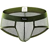 Men's Underwear Trunks Sexy Erotic Lingerie G-String See Through Sheer Mesh Low Rise Breathable Bikinis Briefs Bulge Pouch Sh