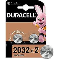 Duracell - 2032 Batteria Bottone al litio 3V, confezione da 2, con Tecnologia Baby Secure per l'uso su chiavi con…