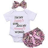 Rehomy Conjunto de 3 piezas de ropa para bebés recién nacidos