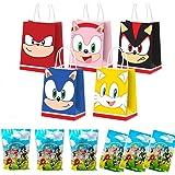 30 bolsas de regalo para fiestas para Sonic Hedgehog, suministros para fiestas de cumpleaños, bolsas para dulces, bolsas para