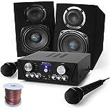 Skytec Karaoke Set Capri Star 400W kompakt Karaoke Verstärker + 2x Skytec Monitor Boxen & dynamischen Mikrofon