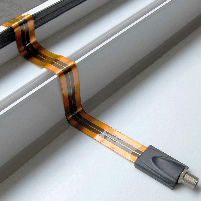 SAT F-Fensterdurchführung flach 0,30m: Amazon.de: Computer & Zubehör