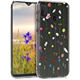 kwmobile Clear Case Compatible with Samsung Galaxy A20e - TPU Smartphone Backcover - Wildflower Vines Multicolor…