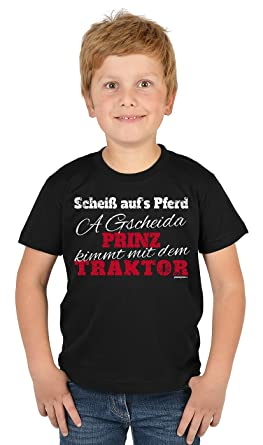 Lustiges Sprüche T Shirt Für Kinder Und Kleine Landwirte : Scheiß Auf´s  Pferd
