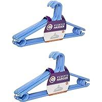 Clastik Plastic Clothes Hanger (Blue) -Set of 12 Pieces