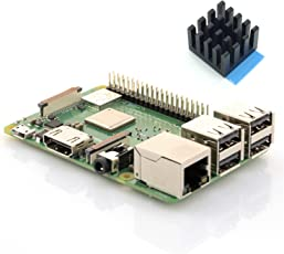 Raspberry Pi 3 Modell B+ - Neustes 2018 Raspberry Pi Modell - ARM-Cortex-A53 4x 1,4GHz, 1GB RAM, WLAN 2,4/5GHz, Bluetooth 4.2, Gigabit LAN, 4x USB, PoE ready - inkl. Premium Kühlkörper by Sertronics