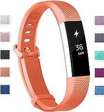 Fundro Fitbit Alta HR Armband und Alta Armband, Einstellbar Köper Ersatz Band Armbänder für Fitbit Alta hr and Alta Band mit Metallschließe