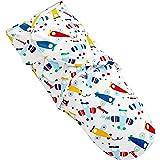 TALINU gigoteuse d'emmaillotage bleue - nid d´ange avec système pratique de scratch en 100% coton - couverture d emmaillotage