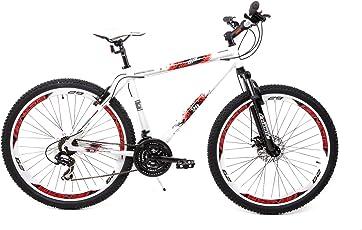 "29"" Zoll Alu Cross MTB Fahrrad Genesis Shimano 21 Gang Scheibenbremse Disc Weiss"