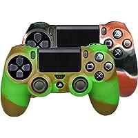SMARDY Bundle - 2X Silicone Case Custodia Protettiva Rosso/Nero + Marrone/Oliva Compatibile con Playstation 4 PS4…