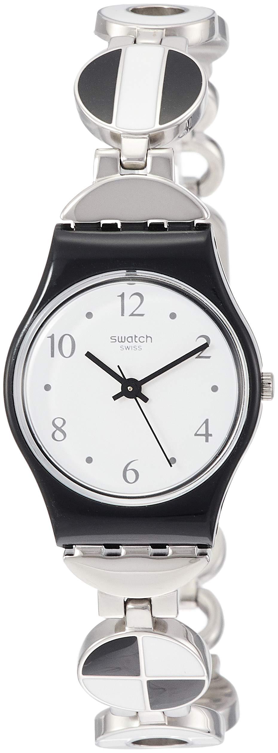 Swatch Reloj Analógico para Mujer de Cuarzo con Correa en Acero Inoxidable LB185G