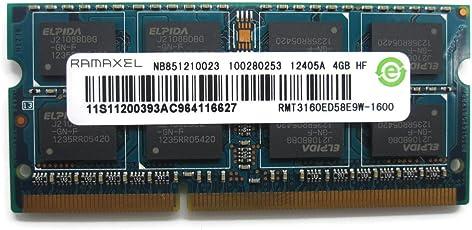 Ramaxel 4GB Ddr3 Pc3-12800s 1600mhz Laptop RAM Memory (Rmt3160ed58e9w)