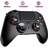 PICTEK Wireless Controller PS4, Dual Vibration Shock 4 PS4 Controller Kabelloser Gamepad Controller, Pro Game Controller Gamepad Joypad Joystick Kompatibel mit PS4, PS4 Slim, PS4 Pro
