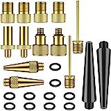 NATUICE 24 stuks koperen fietsventieladapters, AV DV SV fietsventieladapter, accessoires, autoventiel, ventiel voor fietspomp