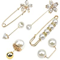 Pinsheng Spille da Donna con Perle ,Spilla di Sicurezza per Le Donnein Cristallo ,per Stringere La Vita Spille Maglione…