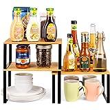 Rack de placard Armoire étagère Organisateur étagère cuisine, étagère Extensible à épices empilable pour organisateur de cuis