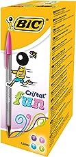 Bic Cristal Fun Penna a Punta Larga da 1.6 mm, Confezione da 20 Pezzi, Multicolore