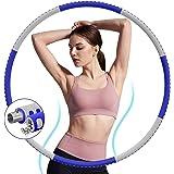 DUTISON Hula Hoop Reifen für Erwachsene 1,2kg,Gewichten Einstellbar Fitness Hoola Hoop zur Gewichtsabnahme, 8 Knotens Stabile