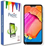 POPIO Tempered Glass for Xiaomi Redmi 6 Pro (Transparent)-Full Screen Coverage (Except Edges) with easy installation kit