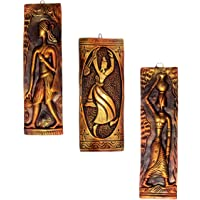 NEW LIFE Terracotta Wall Hanging Baul and Fisherman-Fisher-women Murals Combo (Copper, 32 cm, 25.5 cms)