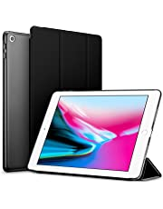 Robustrion Smart Trifold Hard Back Flip Stand Case Cover for New iPad 9.7 inch 2018/2017 5th 6th Generation Model A1822 A1823 A1893 A1954 - Black
