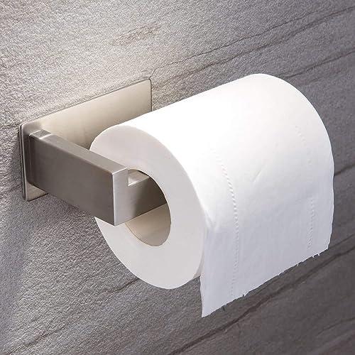 Ruicer Porta Carta igienica Autoadesivo, in Acciaio Inox, per bagni e WC