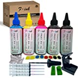 F-ink 5 Bottles Ink and Ink Refill Kits Compatible with Hp Inkjet Ink Cartridges 67XL 21XL 22XL 27XL 28XL 21 22 56 57 58 -Ink