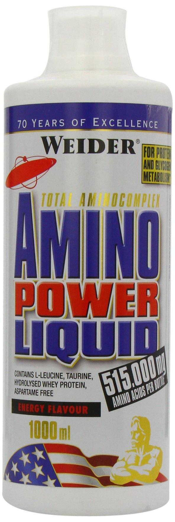 71 OSJVfzxL - Weider Amino Power Liquid 1L Energy, Essential Amino Acids, L-leucine, Free Taurine, Vitamin B8