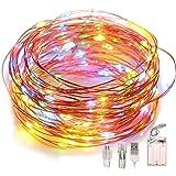 Fulighture Guirlande lumineuse à LED, alimentée par piles, prise USB,2 modes, 100 LED 10 m,lumière décorative en fil de cuivr