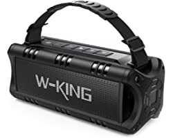 Bluetooth Speaker, W-KING 30W Portable Wireless Speakers Waterproof, 24 Hours Playtime, 5000mAh Battery with Punchy Bass, NFC