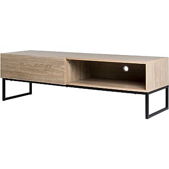 Attraktiv TV Sideboard Industrial Stil 150cm Eiche Sonoma Schwarz Lowboard TV Bank TV  Möbel Loft